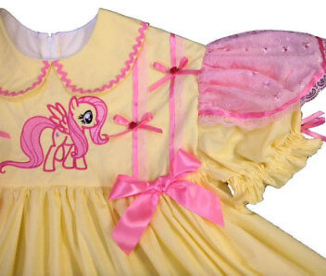 Adult Baby Sissy 2 Pc Set Dress My Little Pony Fluttershy Pony Binkies_n_bows