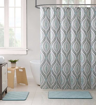 just breathe shower curtain set relax