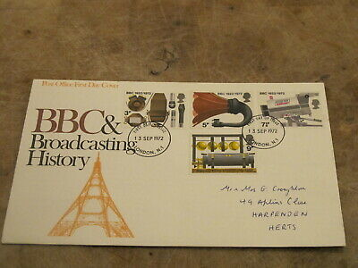1972 GB First Day Cover- BBC 50th Anniversary / Broadcasting History