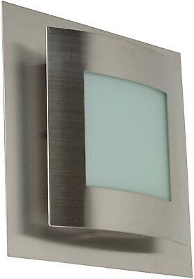 Ranex Helsinki Outdoor Wall Lamp E27 Stainless Steel / Glass