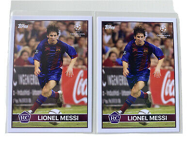 Lionel Messi The Lost Rookie Card 2004-2005 (Topps Out Of Print) Lot Of 2