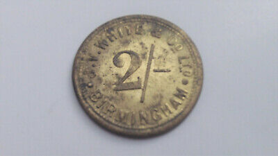 Smithfield Market Birmingham Token J. V. White & Co. Ltd. Two Shillings 2/-