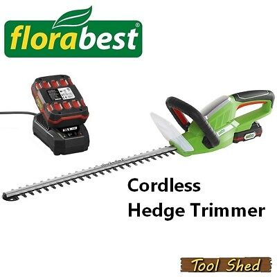 Cordless Hedge Trimmer Powerful 20v Rechargable Battery Florabest Fhsa 20 A1