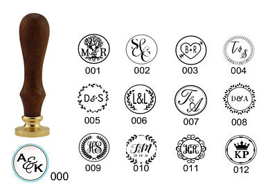 Custom Initials Wax Seal Stamp Wedding Personalized Sealing