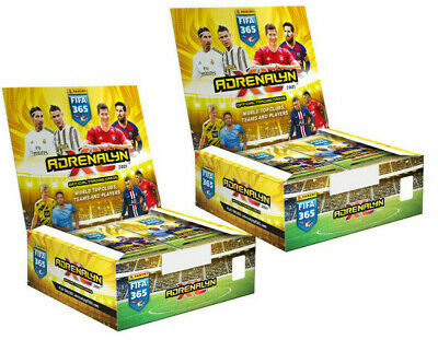 Panini Adrenalyn XL FIFA 365 2021 version 2 displays - each with 24 boosters
