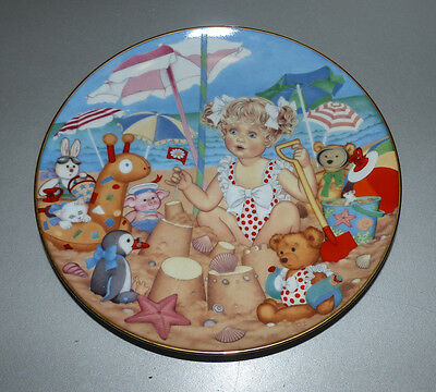 Carol Lawson - Franklin Mint - collector's plate - Sand Castles - very good condition
