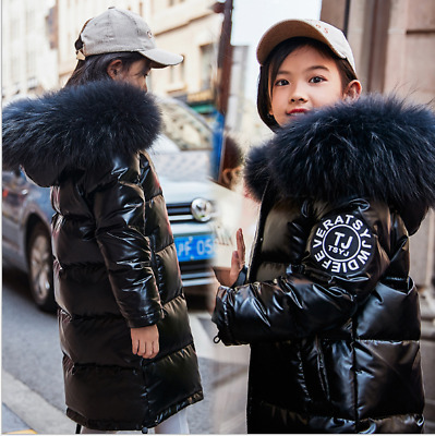 Winter Children Girls Boys Coat Down Jacket Hooded Thicken-Warm Coat