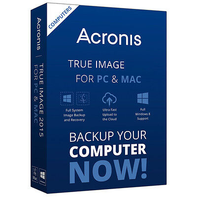 ACRONIS TRUE Image HD 2017 Backup Cloning Software ...