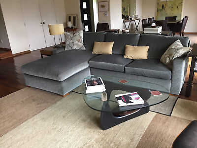 a rudin sectional sofa with chaise on