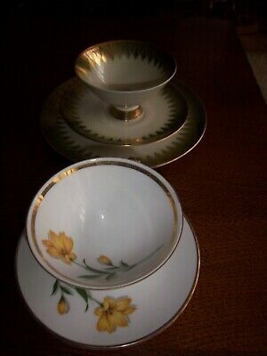 Collection cup mixed lot Winterling Bavaria Marktleuthen marked cup plate top