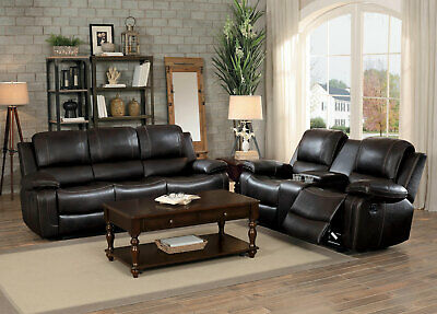Download Brown Sofa And Loveseat Set Background
