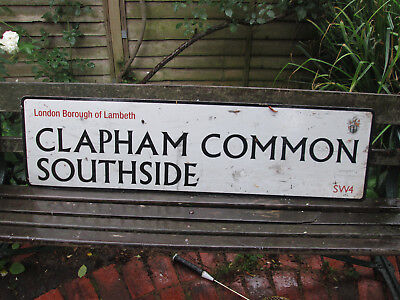 ORIGINAL LONDON STREET Road Sign Clapham Common South Side Sw4 ...
