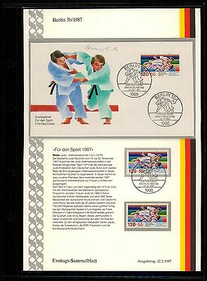 Berlin 1987: Gymnastics Festival and Judo World Cup!  Sport No. 777 + 778 with first day stamps!  20-03