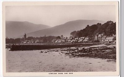 AYRSHIRE  ISLE OF Arran Map PPC  1940 PMK  By Valentines       4 00     Ayrshire  Isle of Arran  Lamlash From The Pier RP PPC  Unposted  By