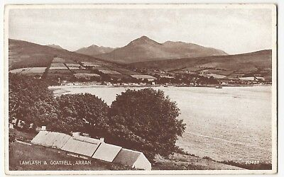 AYRSHIRE  ISLE OF Arran Map PPC  1940 PMK  By Valentines       4 00     Ayrshire  Isle of Arran  Lamlash   Goatfell PPC By Valentines  Unposted