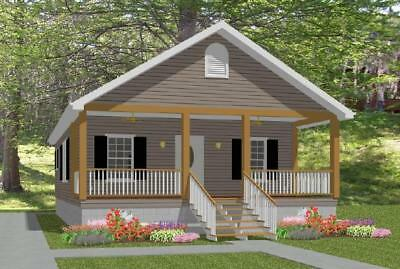 MODERN STUDIO GARAGE Blueprints Plans Mancave Building Plan     Affordable House Small Home Blueprints Plans 2 bedroom Cottage 784 sf PDF