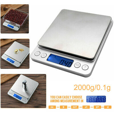 0.1g-2000g Mini Electronic Balance Precision Weighs Jewelry Digital Scale Deco