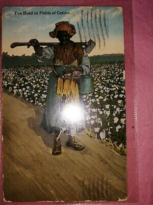 Very nice postcard picking Cotton Alabama United States ...