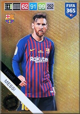 Panini Adrenalyn XL FIFA 365 2019  Lionel Messi Limited Edition XXL