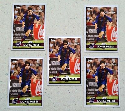 5x Topps The Lost Rookie Cards lionel Messi 2004 2005 FC Barcelona Madrid