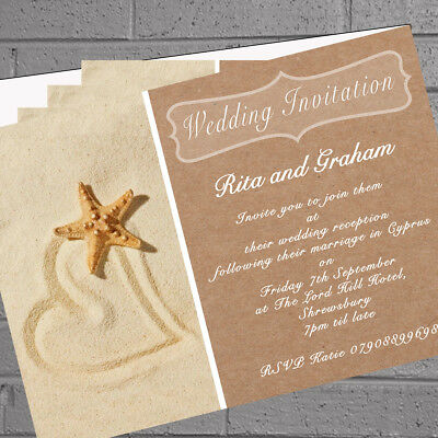 Personalised Beach Wedding Invitations Married Abroad