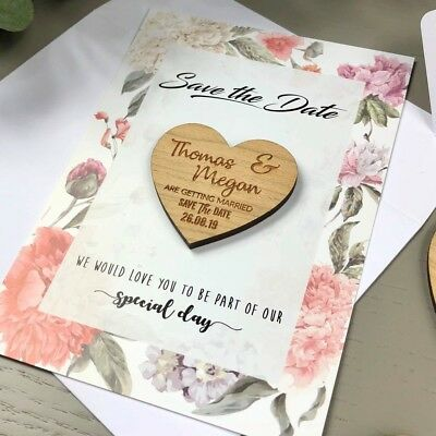 Save The Dates Magnets Cards Personalised Wedding