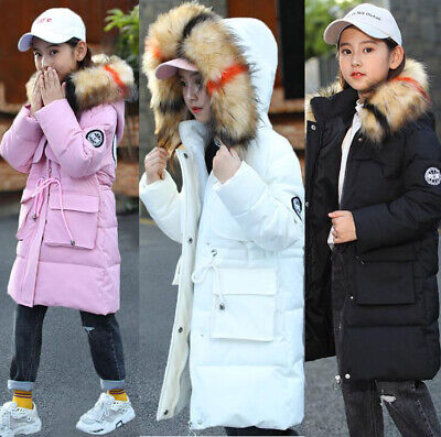 Girls fur hood winter coats winter jacket quilt down parka down coat