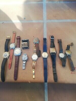 Lot Vintage Mechanical Men's Watch Essar, Huma, TINOWA ...