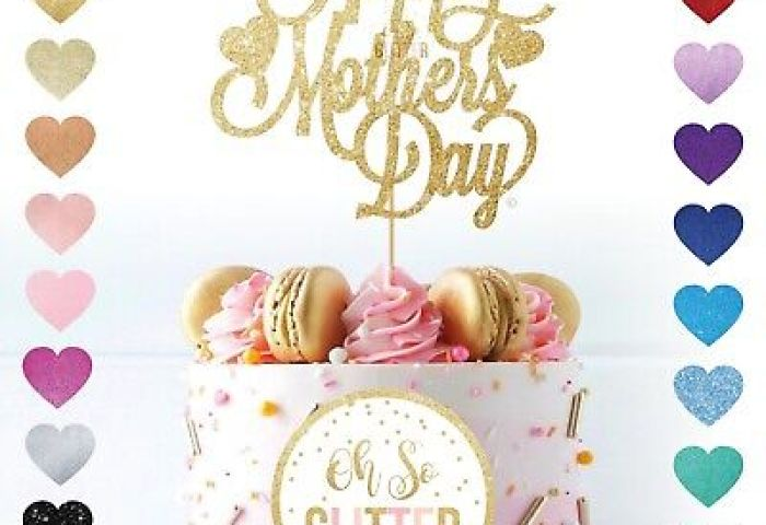 Happy Mothers Day Cake Topper Mum Glitter Mother Easter Mum Nan
