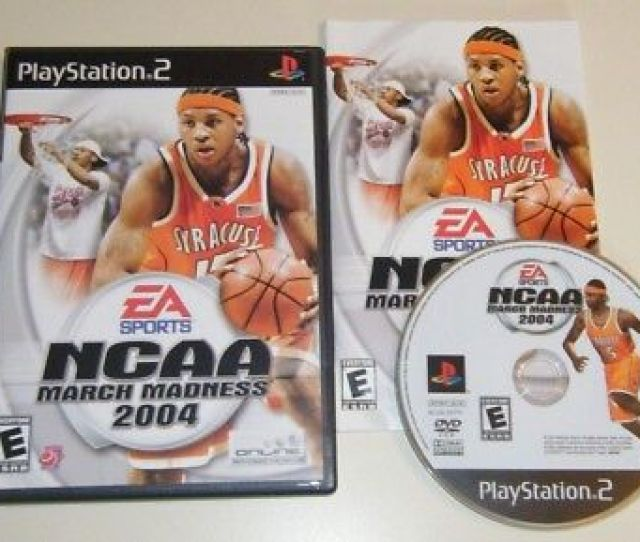 Ncaa March Madness 2004 Complete Game Playstation 2 Ps2 System Kids Basketball
