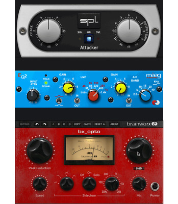 PLUGIN ALLIANCE-BRAINWORX BX_OPTO, SPL Attacker, Maag EQ2 ...