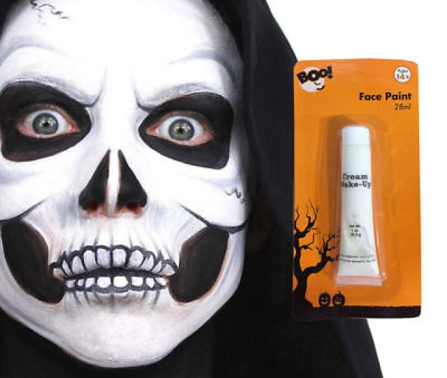 Face Cream Make Up Halloween Witch Vampire Zombie Fancy Dress Body Paint White