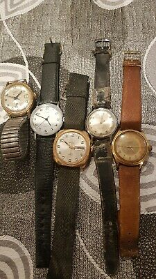 lot 5 vintage men's mechanical watches