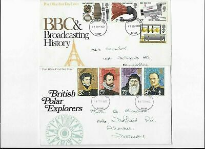 Post Office First Cover 1972 BBC&Broadcasting History,British Polar Explorers