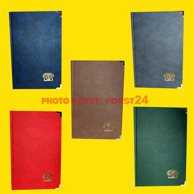 Address book / telephone book with 2 brass corners, with tab register, A5 (13 x 20, .5 cm)