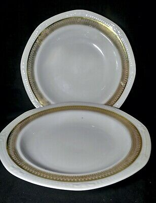 Two porcelain plates with gold rim (Mitterteich, Bavaria), very good condition
