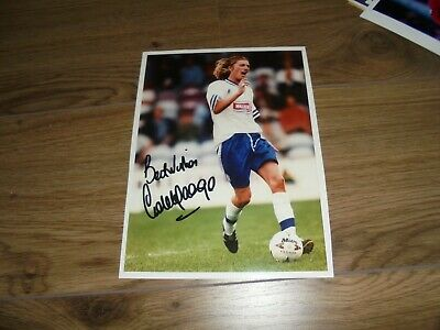 ROBBIE SAVAGE # LEICESTER CITY & WALES - 10x8 PHOTOGRAPH ORIGINAL SIGNED