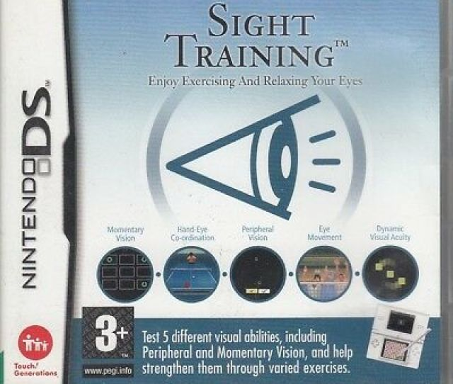 Sight Training Nintendo Acceptable Cd Rom Games