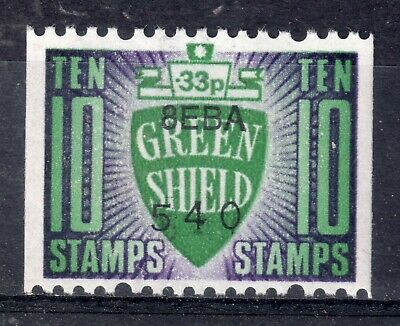 GB = `GREEN SHIELD` 10 Unit Savings Stamp. MNH. Not now given.