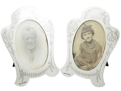 Antique Hallmarked Sterling Silver Photograph Frames by Joseph Gloster Ltd 1920s