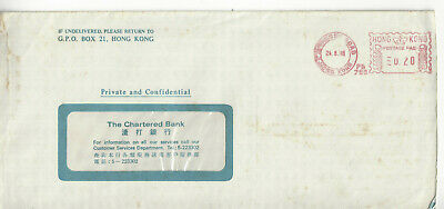 Hong Kong  1988 Private Window Cover With Hennessy Road Meter Cancel