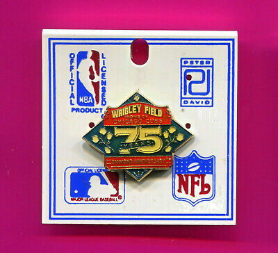 Chicago Cubs Pin Wrigley Field Home Of Chicago Cubs 75Th Anniversary Pin