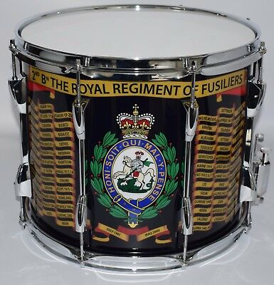 ROYAL Regiment of Fusiliers Side Drum, Traditional double ...
