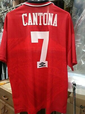 Famous for wearing the number 7 shirt with his trademark upturned collar. 1996 1997 Umbro Manchester United Eric Cantona Jersey Shirt Kit Maglia France Sports Mem Cards Fan Shop Soccer International Clubs Romeinformation It