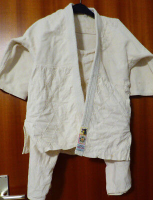 Japanese judo suit Gr.  140, approx. 45 years old, judo, antique, rarity, collector