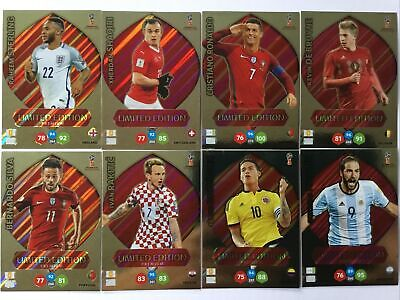 Panini Adrenalyn XL Fifa 365 Russia 2018 Limited Edition 8 Karten