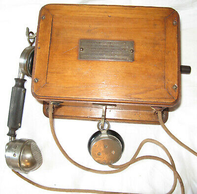 telephone mural ancien jacquesson old wood phone 1920 1930