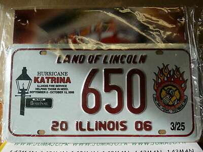 EMBOSSED METAL PLATE, AMERICAN USA registration 15 X 30 cm LAND OF LINCOLN