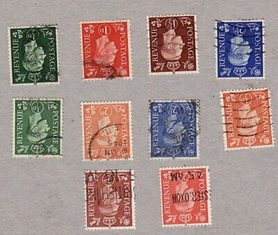 GVI Diffinitives 1937-51.. INVERTED WATERMARKS cat £34