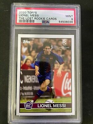 Lionel Messi RC Topps The LOST Rookie Cards PSA 9